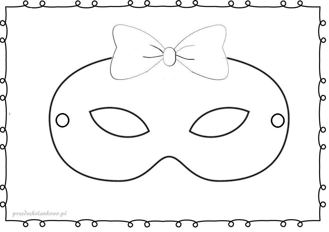 Karnawalowe Maski Kolorowanki Zestaw 1 Przedszkolankowo