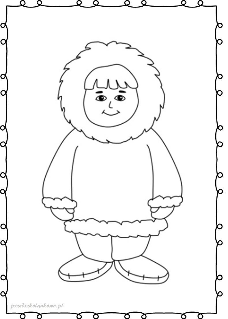 Eskimos Kolorowanki Zestaw 1 Przedszkolankowo