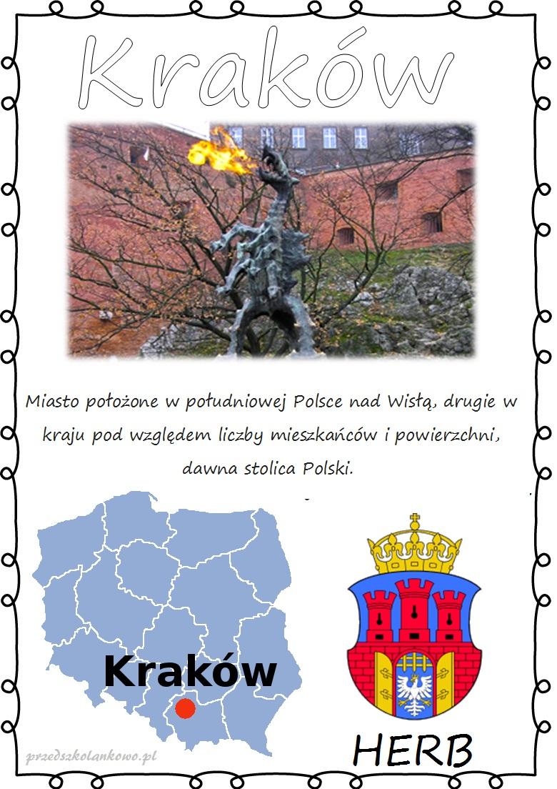 POLSKIE MIASTA – plansze zestaw 1 – Przedszkolankowo