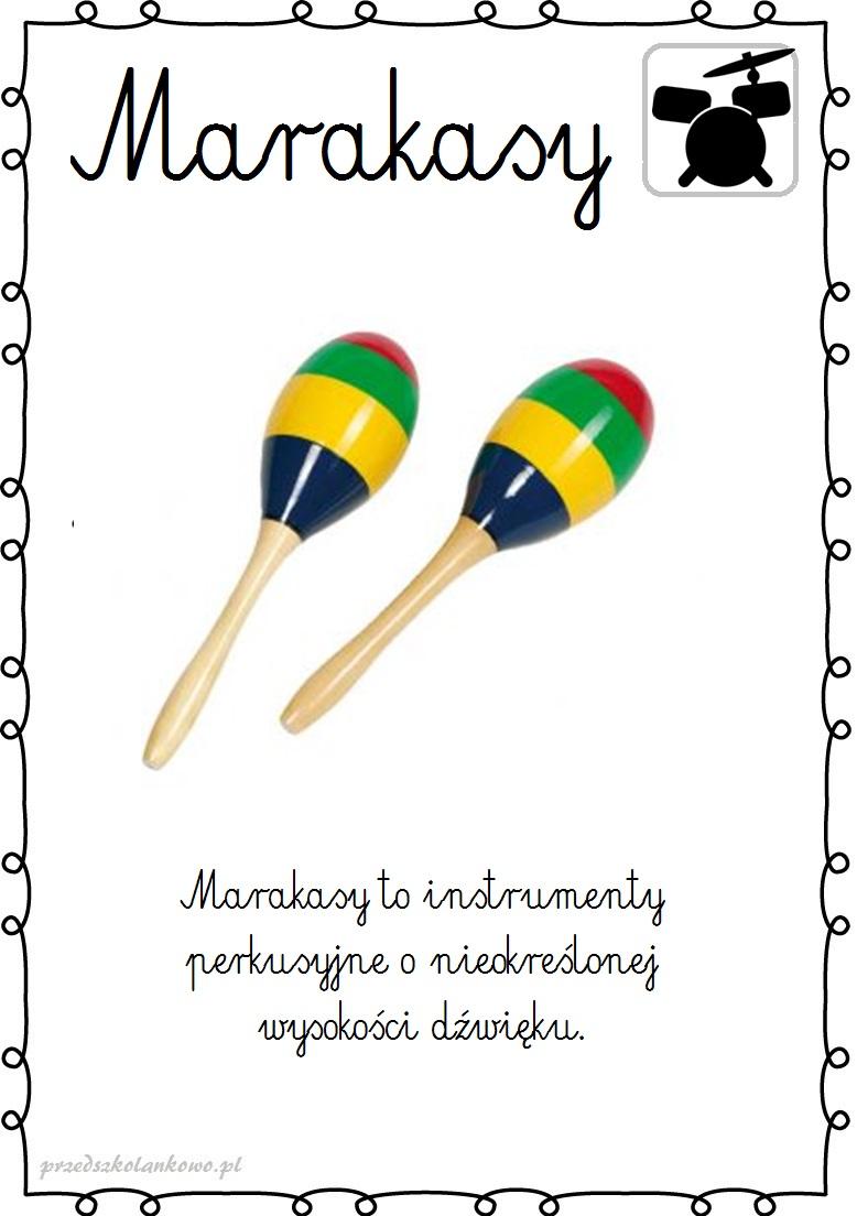 Instrumenty Muzyczne Plansze Zestaw 1 Przedszkolankowo