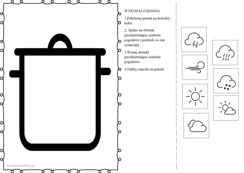 Znalezione obrazy dla zapytania: karty pracy dla dzieci marcowa pogoda