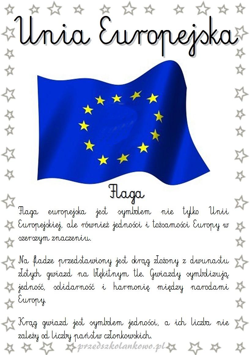 Symbole Unii Europejskiej Plansze Przedszkolankowo