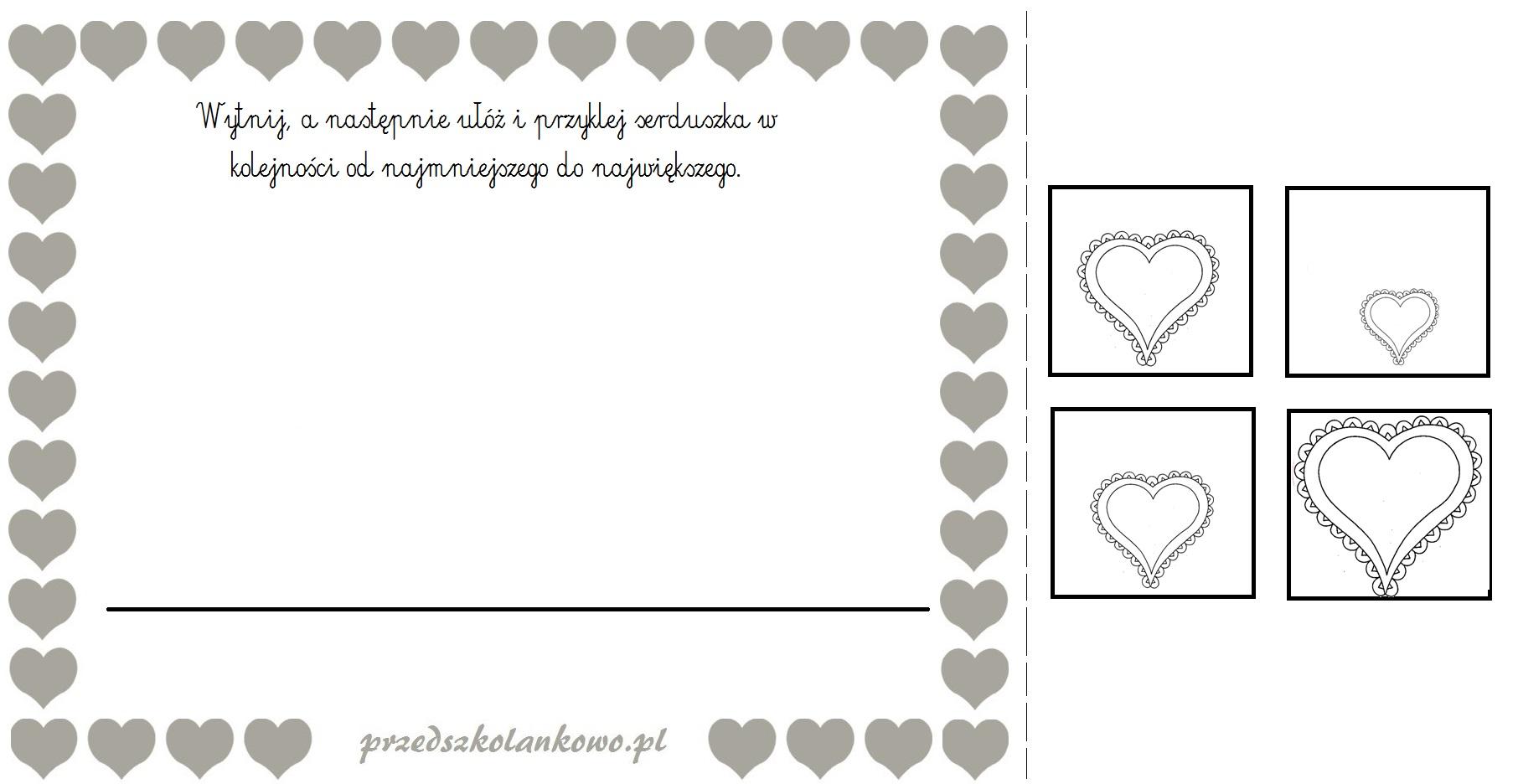 Walentynkowe Karty Pracy Przedszkolankowo