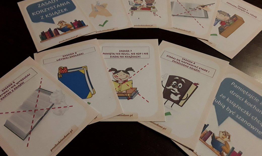 Zasady Korzystania Z Książek Plansze Przedszkolankowo