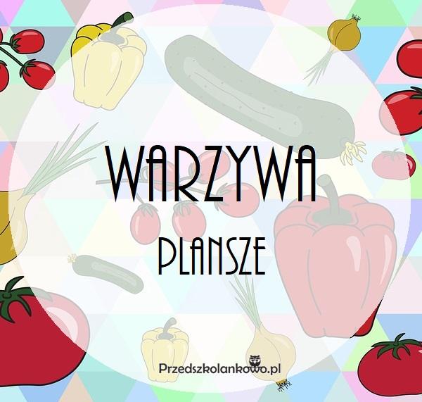 Warzywa Plansze Przedszkolankowo