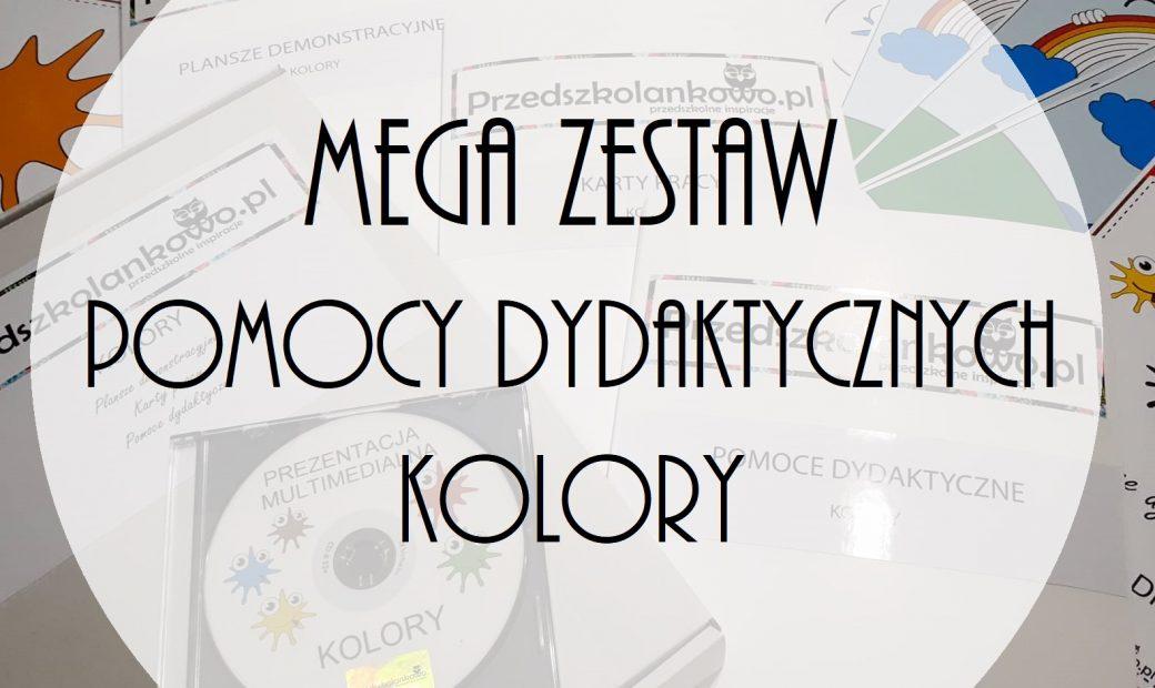 Mega Zestaw Pomocy Dydaktycznych Kolory Przedszkolankowo