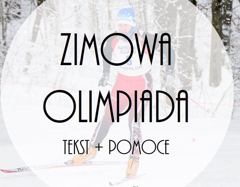 Zimowa Olimpiada Tekst Pomoce Przedszkolankowo