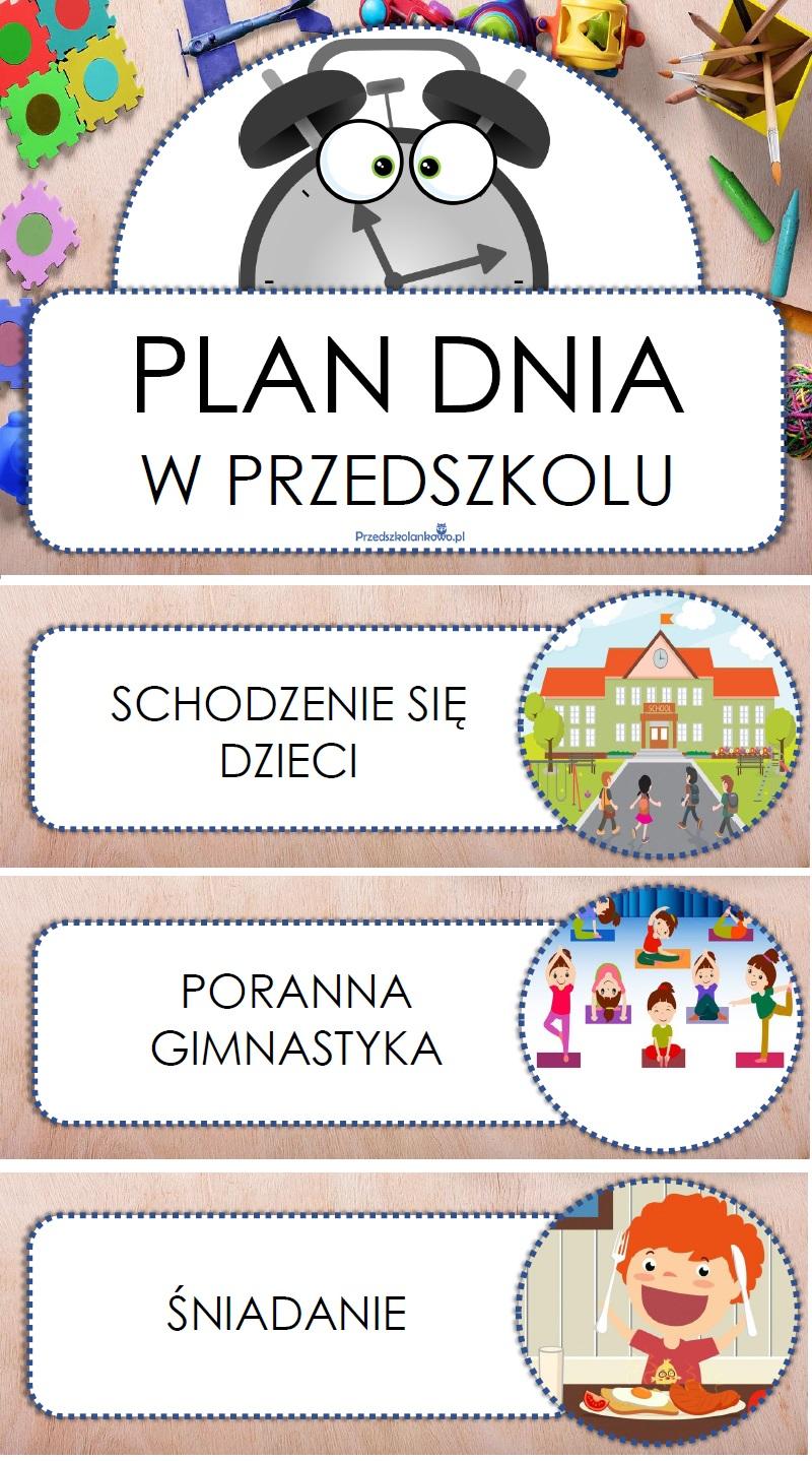 Świeże PLAN DNIA W PRZEDSZKOLU – zestaw plansz – Przedszkolankowo II43