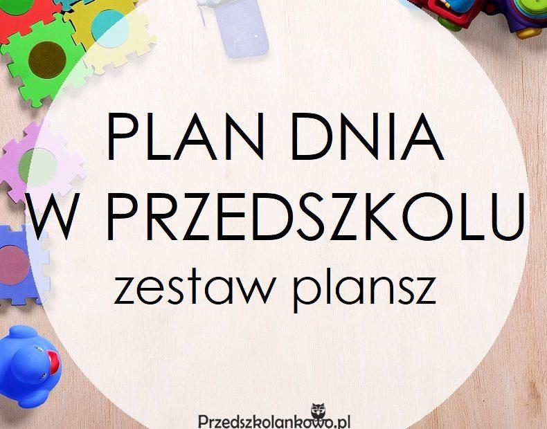 Nietypowy Okaz PLAN DNIA W PRZEDSZKOLU – zestaw plansz – Przedszkolankowo YD74