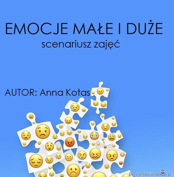 Emocje Małe I Duże Scenariusz Zajęć Przedszkolankowo