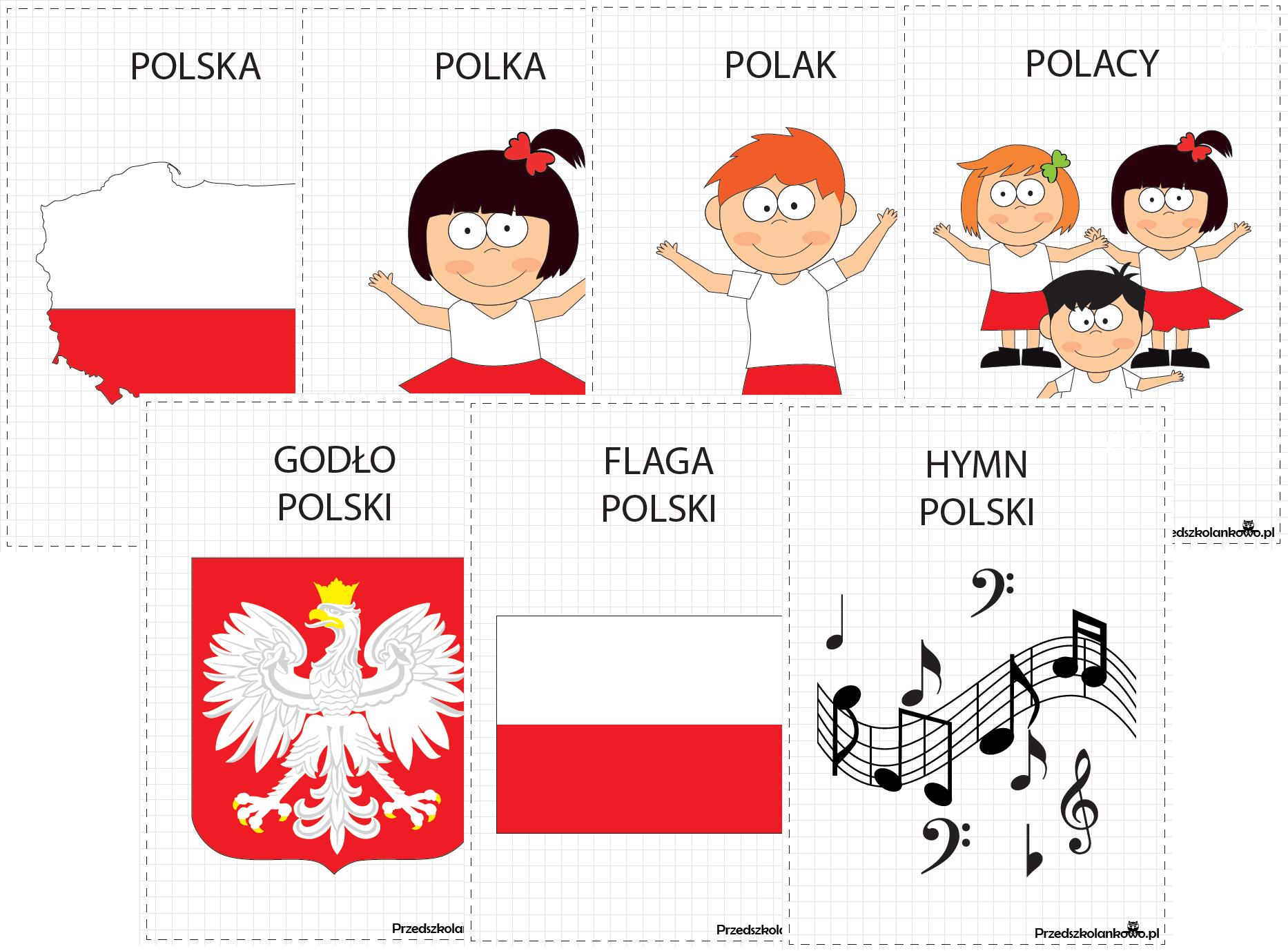 PRZEDSZKOLANKOWY ŚWIAT BAZGROŁKÓW część 5: Polska i jej symbole ...